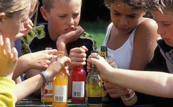 Детский алкоголизм в картинках
