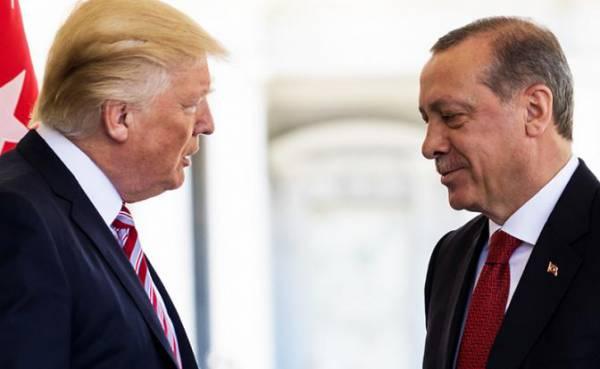 На фото: президент США Дональд Трамп и президент Турции Реджеп Эрдоган