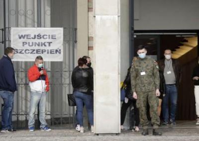 В Польше подожгли пункт вакцинации от COVID-19